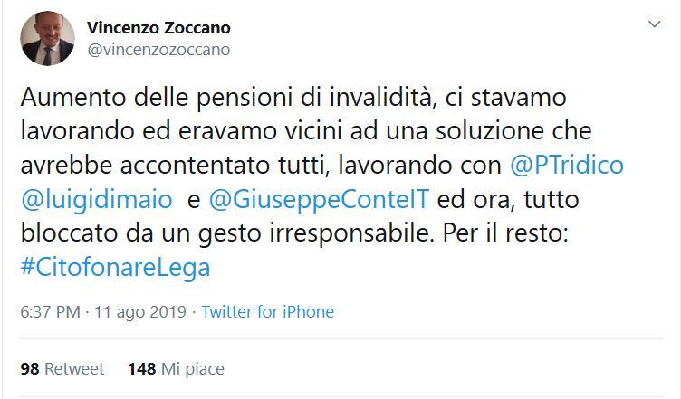 Matteo Salvini e l'aumento delle pensioni d'invalidità