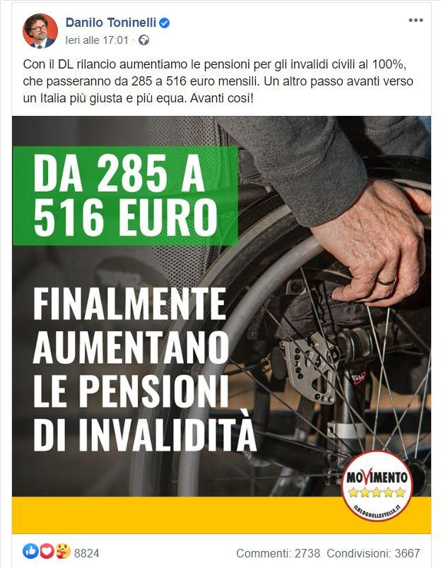 Aumento pensioni d'invalidità: facciamo il punto