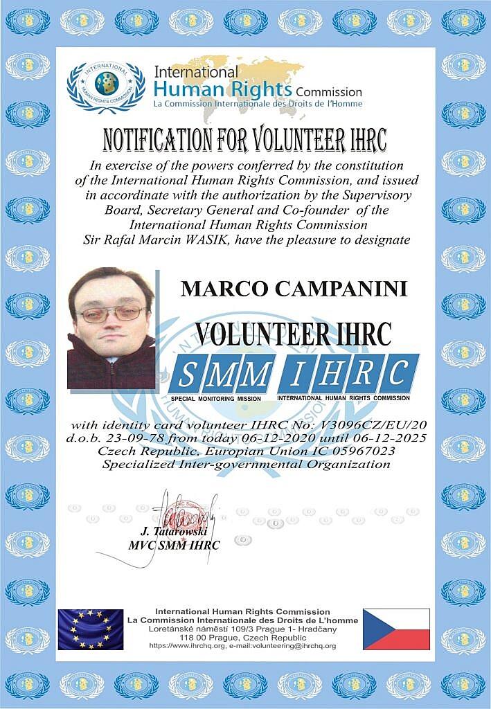 Volontario IHRC